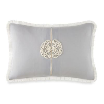 Waterford® Linens Newbridge Oblong Throw Pillow in Blue