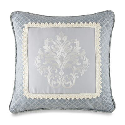 Waterford® Linens Newbridge Square Throw Pillow in Blue
