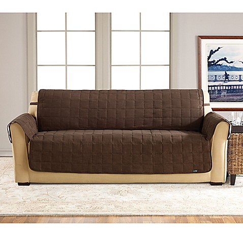 Sure Fit Waterproof Sofa Slipcover In Chocolate