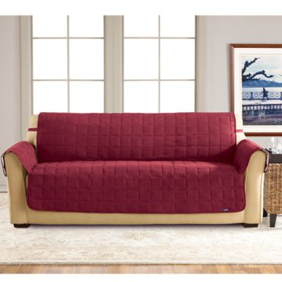 Sure Fit® Waterproof Sofa Slipcover in Chocolate