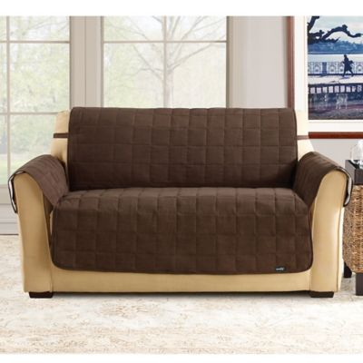 Sure Fit® Waterproof Loveseat Slipcover in Chocolate