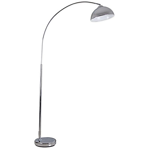 buy illuminada over the sofa arc floor lamp in chrome from bed bath. Black Bedroom Furniture Sets. Home Design Ideas