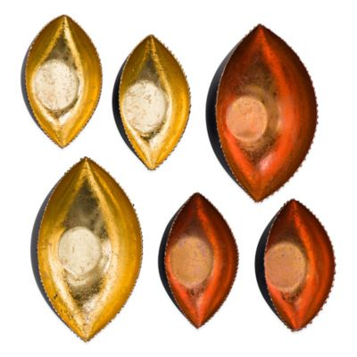 Gold and Copper Cup Wall Décor (Set of 6)