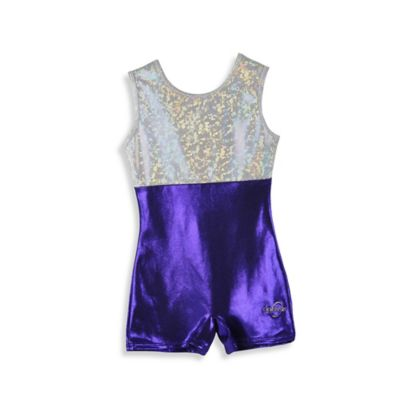 Obersee Size Medium Kids Gymnastics Biketard in Purple