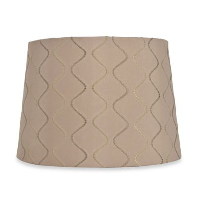 Mix & Match Medium 13-Inch Wave Lamp Shade in Taupe