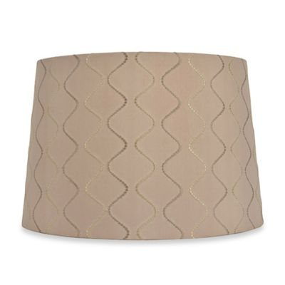Mix & Match Large 15-Inch Wave Lamp Shade in Taupe