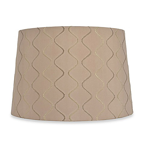 mix match large 15 inch wave lamp shade in taupe bed. Black Bedroom Furniture Sets. Home Design Ideas