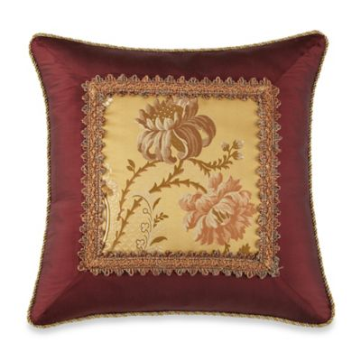 Waterford® Linens Bellwood Square Throw Pillow