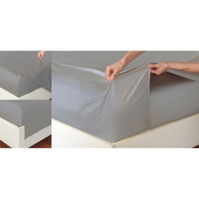 The Easy Sheet® 400 Thread Count King Sheet Set in Silver Grey