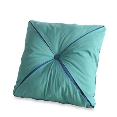 Button Square Toss Pillow