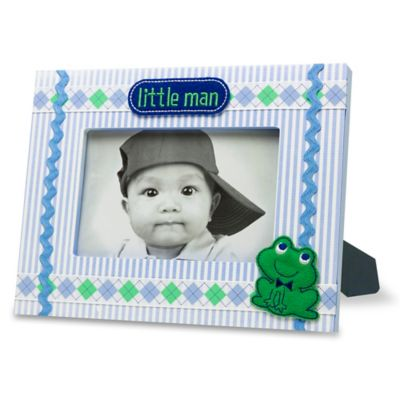 "AD Sutton ""Little Man"" Photo Frame in Blue/Green"