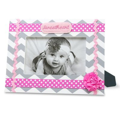 "AD Sutton ""Sweetheart"" Photo Frame in Pink/Grey"