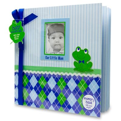 "AD Sutton ""Our Little Man"" Memory Book in Blue/Green"