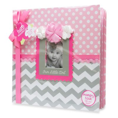 "AD Sutton ""Our Little Girl"" Memory Book in Pink/Grey"