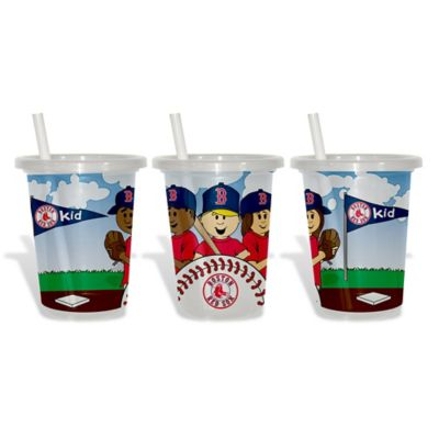 Baby Fanatic® MLB Boston Red Sox 3-Pack 10 oz. Sip & Go Cup with Straw