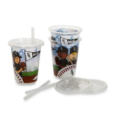 Baby Fanatic® MLB Chicago White Sox 3-Pack 10 oz. Sip & Go Cup with Straw