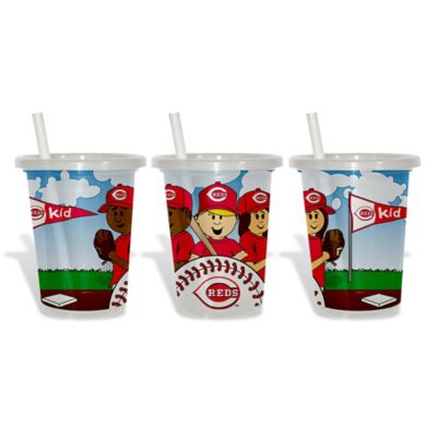Baby Fanatic® MLB Cincinnati Reds 3-Pack 10 oz. Sip & Go Cup with Straw
