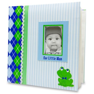 "AD Sutton ""Our Little Man"" Photo Album in Blue/Green"