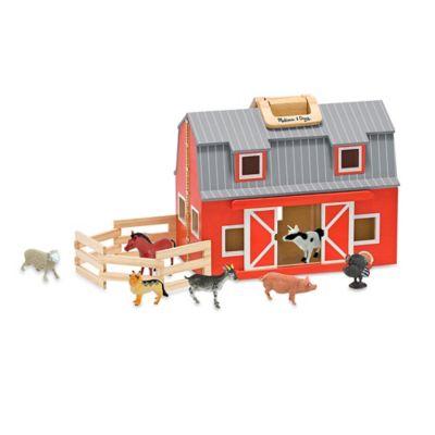 Melissa & Doug® Fold & Go Barn Playset