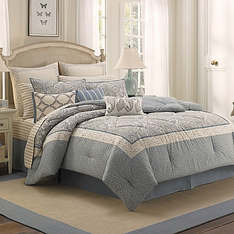 laura ashley whitfield comforter set bed bath beyond. Black Bedroom Furniture Sets. Home Design Ideas