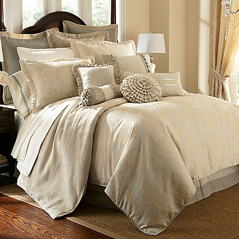 Waterford 174 Linens Lysander Reversible Duvet Cover Bed