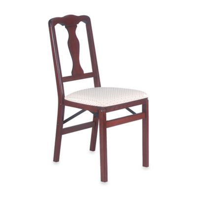 Queen Anne Wood Folding Chair