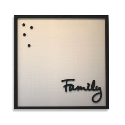 """Family"" Framed Canvas Magnet Board"