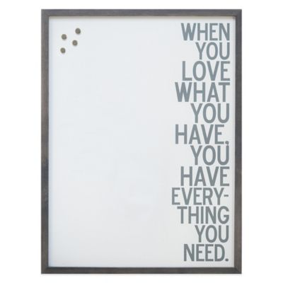 """LOVE"" Framed Canvas Magnetic Board"