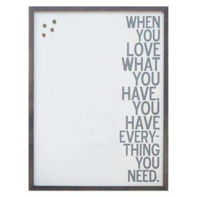 """LOVE"" Framed Canvas Magnetic Board"