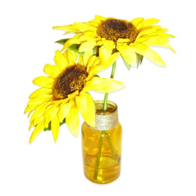 Sunflower Duo in Glass