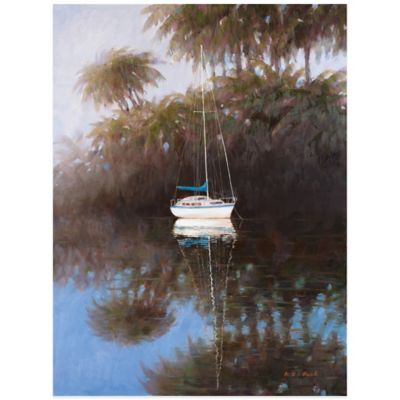 Sailboat at Anchor 2 Wall Art