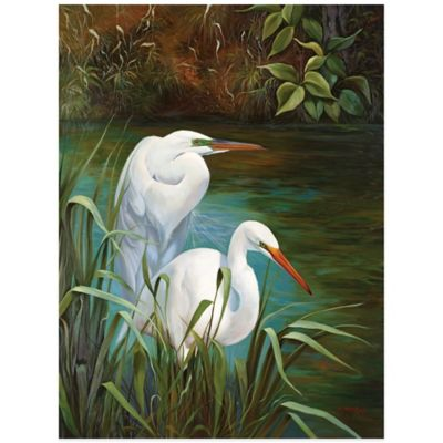 Summer Egrets 1 Wall Art