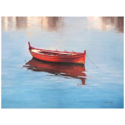 Red Boat Wall Art