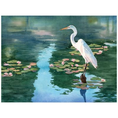 Lakeside Heron Wall Art