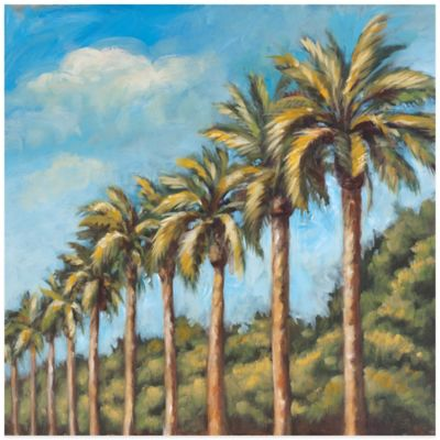 Painted Palm Square Wall Art