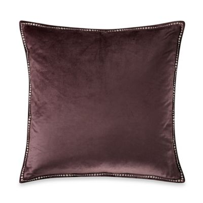 The Tallulah Collection by Kevin O'Brien Falling Leaves Velvet Square Throw Pillow in Grey