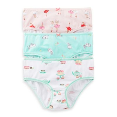 Carter's® Size 4/5T 3-Pack Ballerina Panties in Assorted Designs