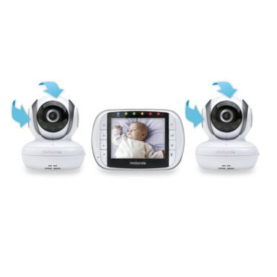 Motorola® MBP36S-2 Wireless 2-Way Digital Video Monitor with 3.5-Inch Screen and Second Camera
