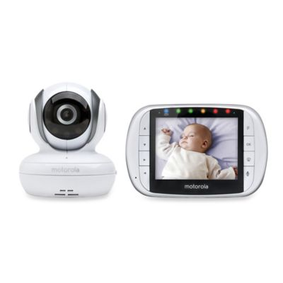 Motorola® MBP36S Wireless Enhanced 2-Way Audio Baby Monitor with 3.5-Inch Digital Screen