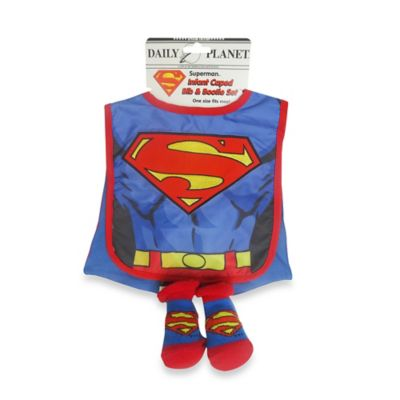 Rising Star Superman Bib and Bootie Set