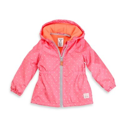 Carter's® Size 4T Midweight Fleece-Lined Jacket in Pink Polka Dot