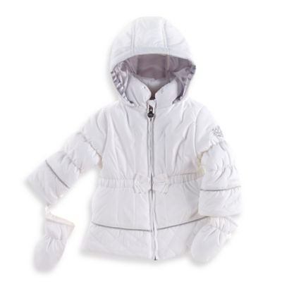 London Fog® Size 12M Heavyweight Winter Coat in White