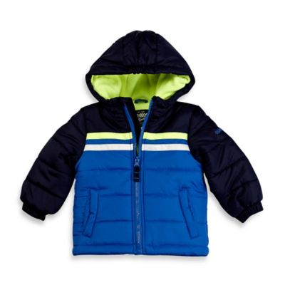 OshKosh B'gosh® Size 4T Heavyweight Bubble Jacket in Blue Stripe