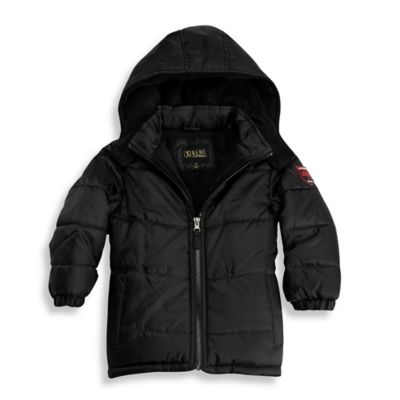 iXtreme Polar Fleece Puffer Jacket in Black