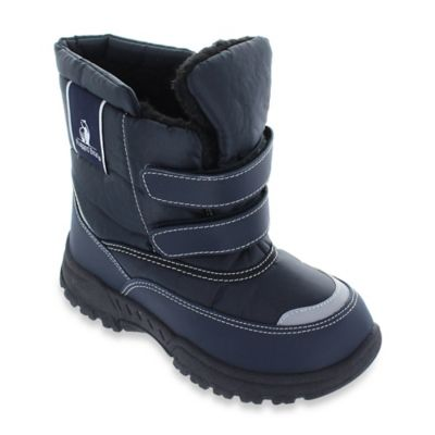 Josmo Shoes Size 5 Padded Snow Boot in Navy Blue