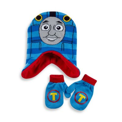 Rising Star Toddler Thomas the Train Hat and Mitten Set