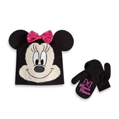 Rising Star Toddler Minnie Mouse Hat and Mitten Set
