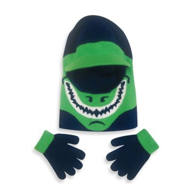 Toby N.Y.C. Toddler Dino Knit Hat and Glove Set
