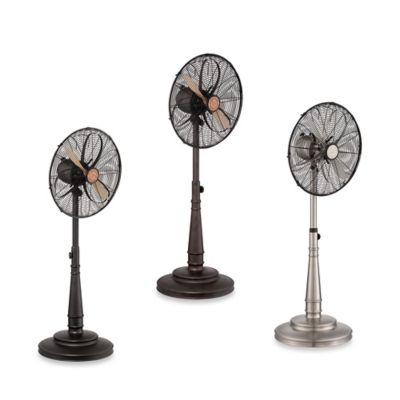 Savoy House 19-Inch 3-Speed Floor Pedestal Sleep Fan in Bronze