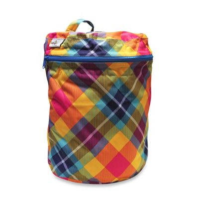 Kanga Care Cloth Diaper Wet Bag in Preppy Plaid